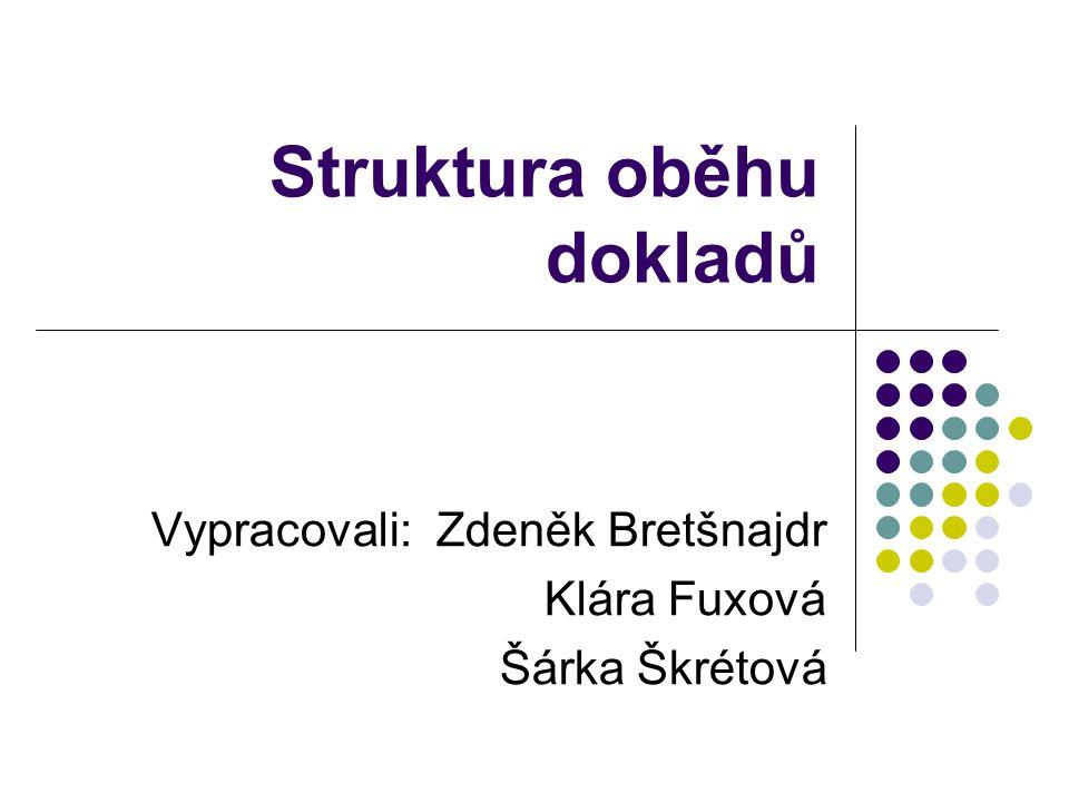 Struktura oběhu dokladů Vypracovali: Zdeněk Bretšnajdr Klára Fuxová Šárka Škrétová