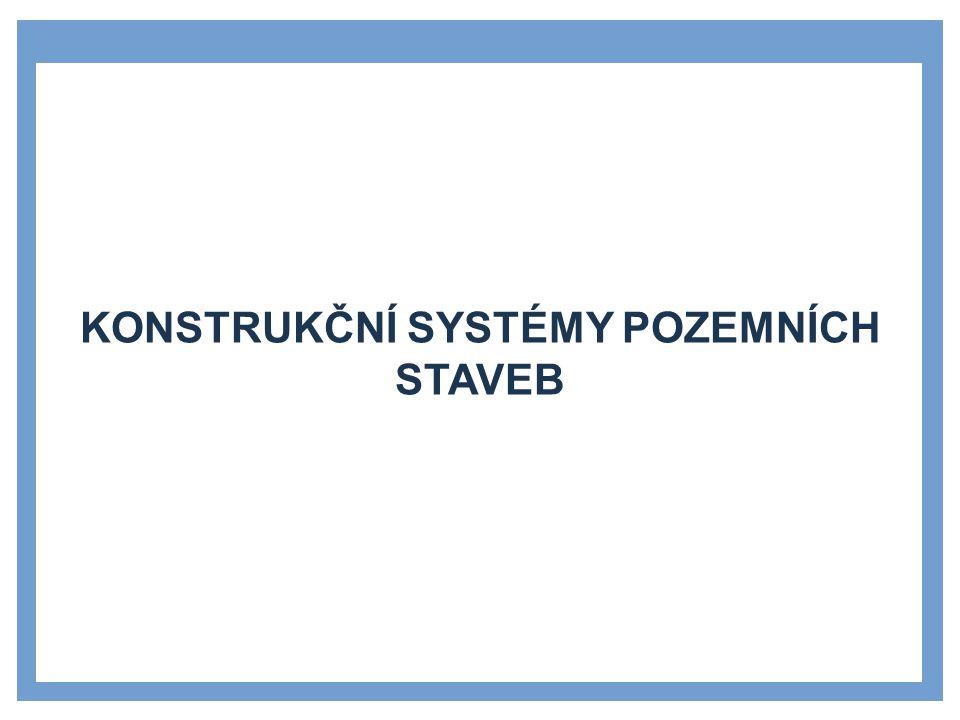 »Rozdělení nosných konstrukcí v budově »svislé nosné konstrukce »vodorovné nosné konstrukce »základy »zastřešení »konstrukce spojující různé výškové úrovně »Rozdělení konstrukčních systémů budov »jedno- a vícepodlažní objekty »halové objekty »Rozdělení podle svislých nosných konstrukci »stěnové, sloupové, kombinované