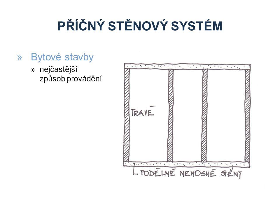 PŘÍČNÝ STĚNOVÝ SYSTÉM »Bytové stavby »nejčastější způsob provádění