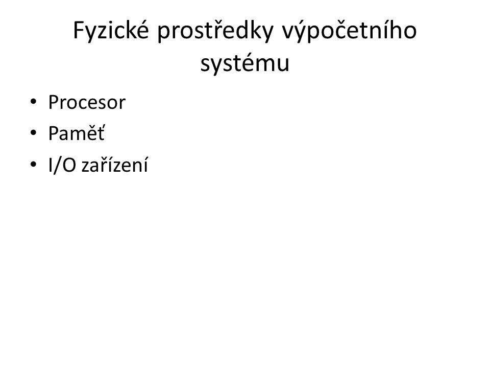 Procesor Jednojádrový Vícejádrový » Víceporcesorový systém