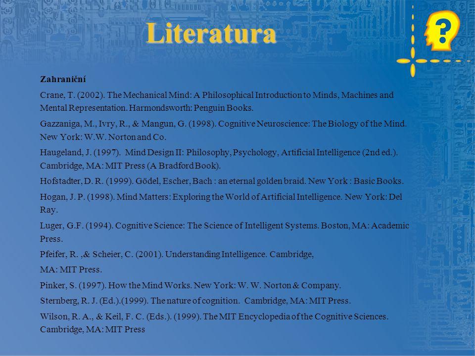 Obsah 1.Co jsou kognitivní vědy 2.Přehled konstituujících oborů 3.Filosofická východiska 4.Stručná historie 5.Současnost 6.Metodologická východiska 7.Možnosti aplikace 8.Příklady aplikací 9.Shrnutí