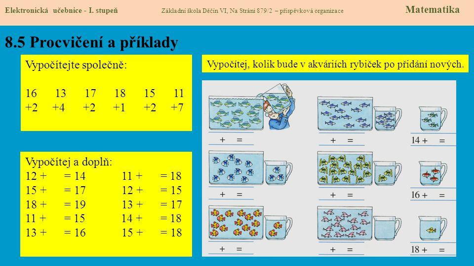 8.6 Něco navíc pro šikovné Elektronická učebnice - I.