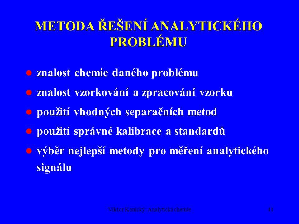 Viktor Kanický: Analytická chemie40 PROSTŘEDÍ PRŮMYSLOVÉ ANALYTICKÉ LABORATOŘE