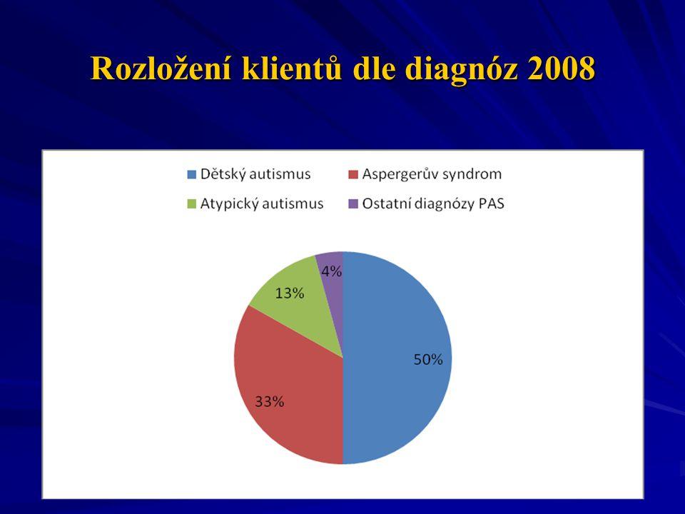 Rozložení klientů dle diagnóz 2008