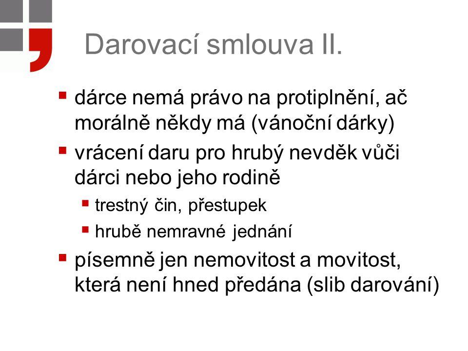 Darovací smlouva III.