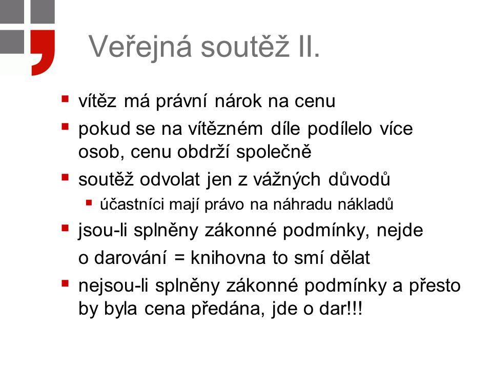 Veřejná soutěž II.
