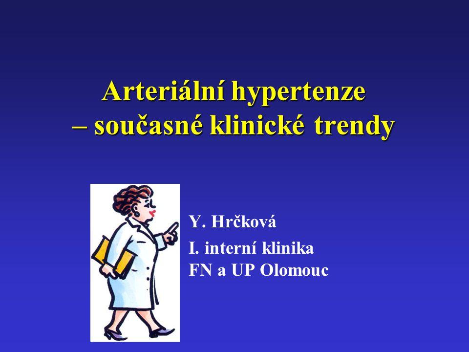 Arteriální hypertenze – současné klinické trendy Y. Hrčková I. interní klinika FN a UP Olomouc