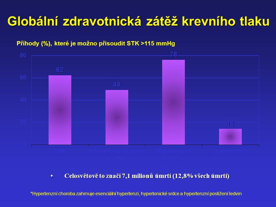 Standardizovaná úmrtnost Česká republika 2006 Muži Ženy 47,2 % 27,6 % 25,2 % 53,4 % 21,3 % KVOMalignityostatní 25,3 %