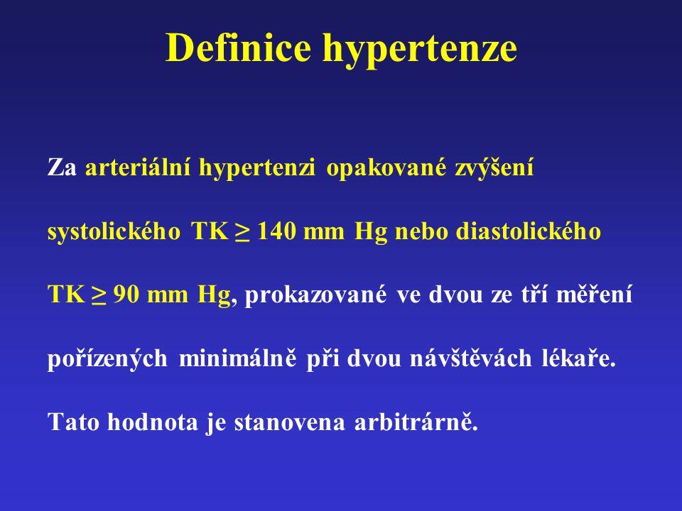 Dle doporučení ESH z roku 2007 máme náš cíl léčby upravit takto: (< 160/95 mmHg = do roku 1999) < 140/90 mmHg = 21.