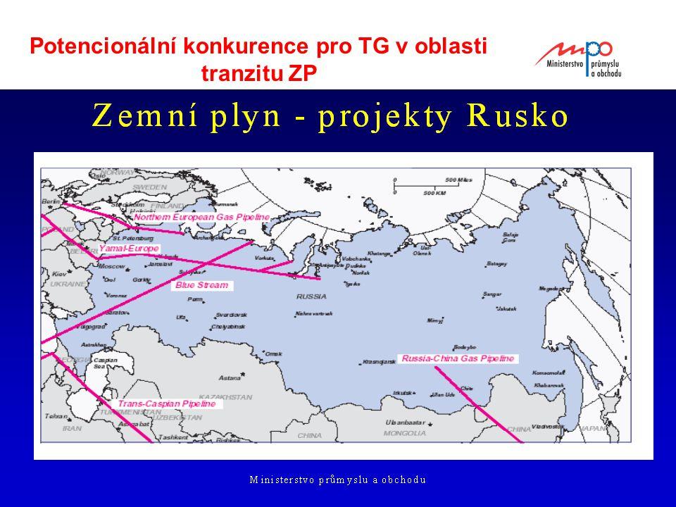  2004  Ministerstvo průmyslu a obchodu 17 Potencionální konkurence pro TG v oblasti tranzitu ZP
