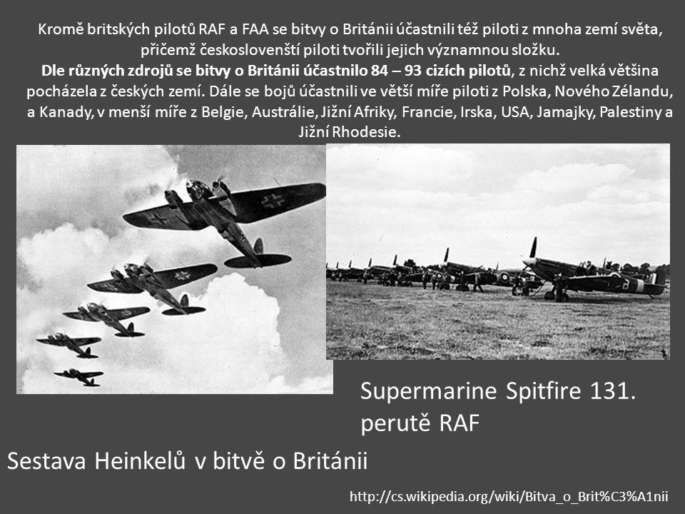 Kromě britských pilotů RAF a FAA se bitvy o Británii účastnili též piloti z mnoha zemí světa, přičemž českoslovenští piloti tvořili jejich významnou s