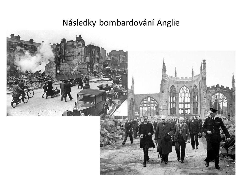 Následky bombardování Anglie