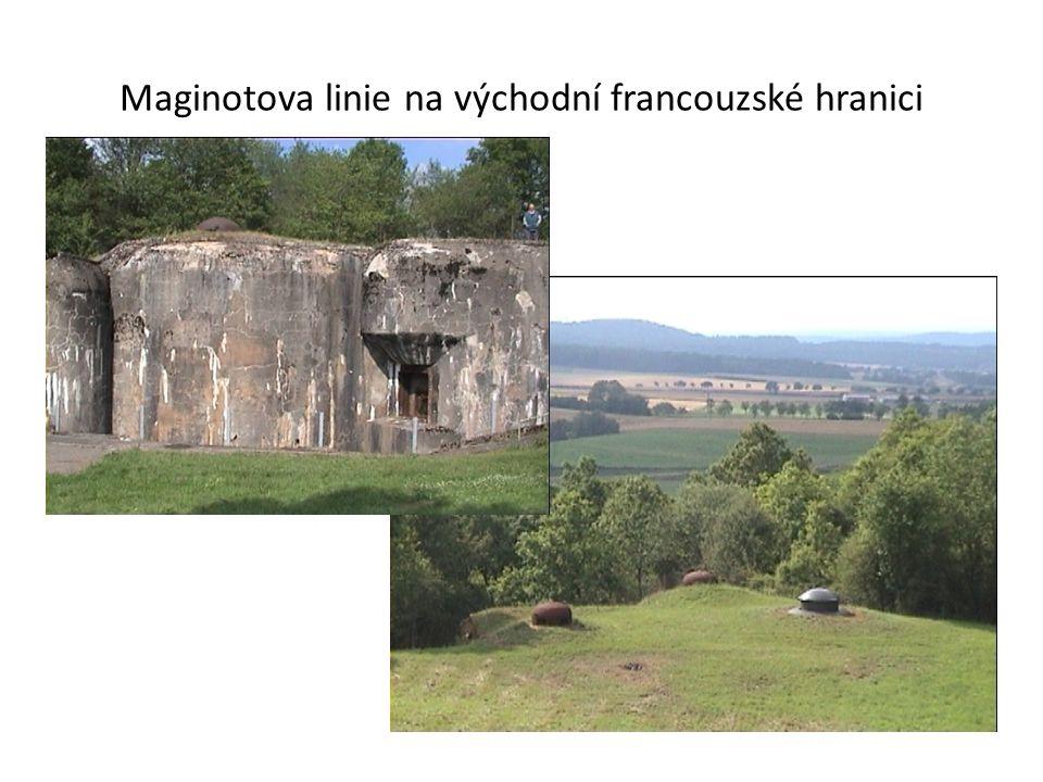 Maginotova linie na východní francouzské hranici
