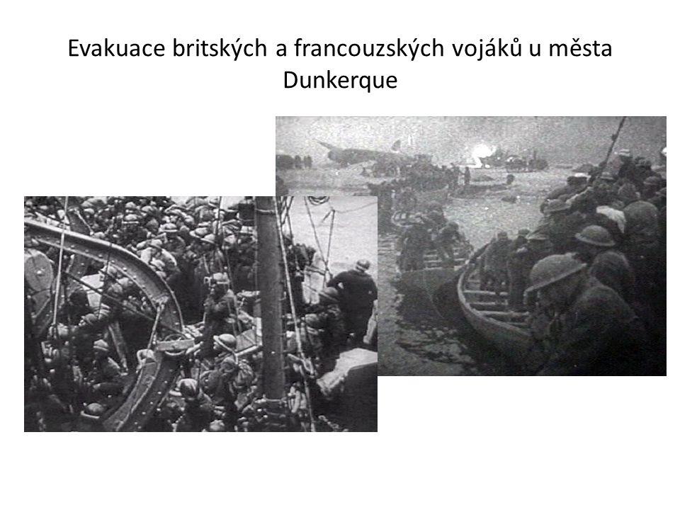 Evakuace britských a francouzských vojáků u města Dunkerque