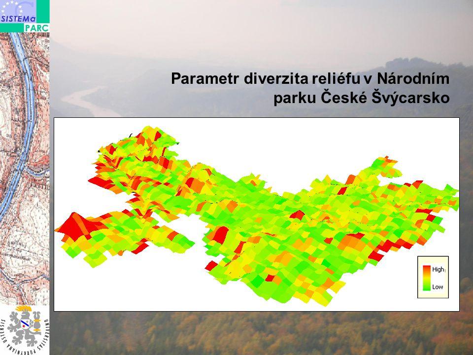 Parametr diverzita reliéfu v Národním parku České Švýcarsko