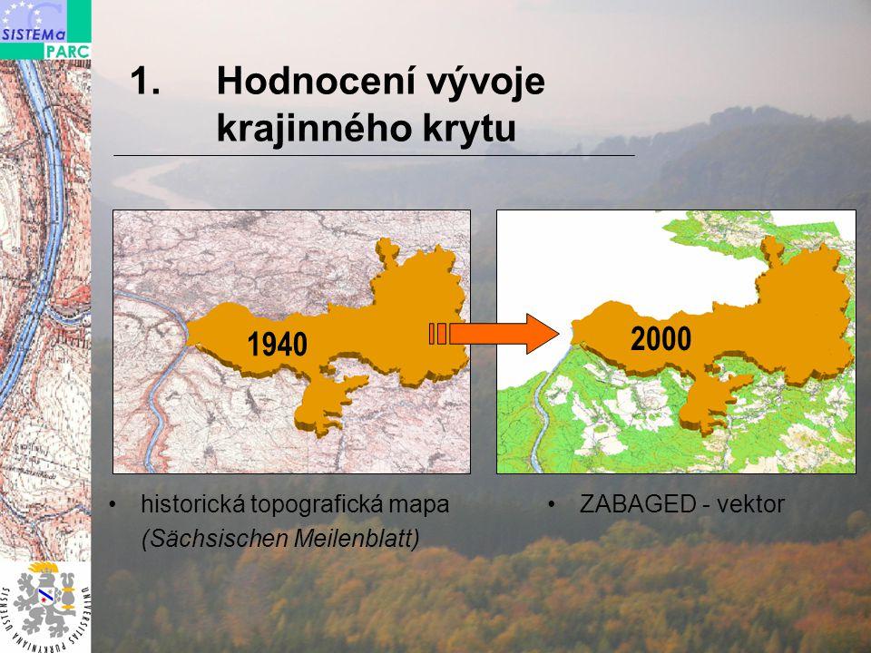 1940 2000 přizpůsobená klasifikace CORINE Land Cover Digitalizace a klasifikace dat