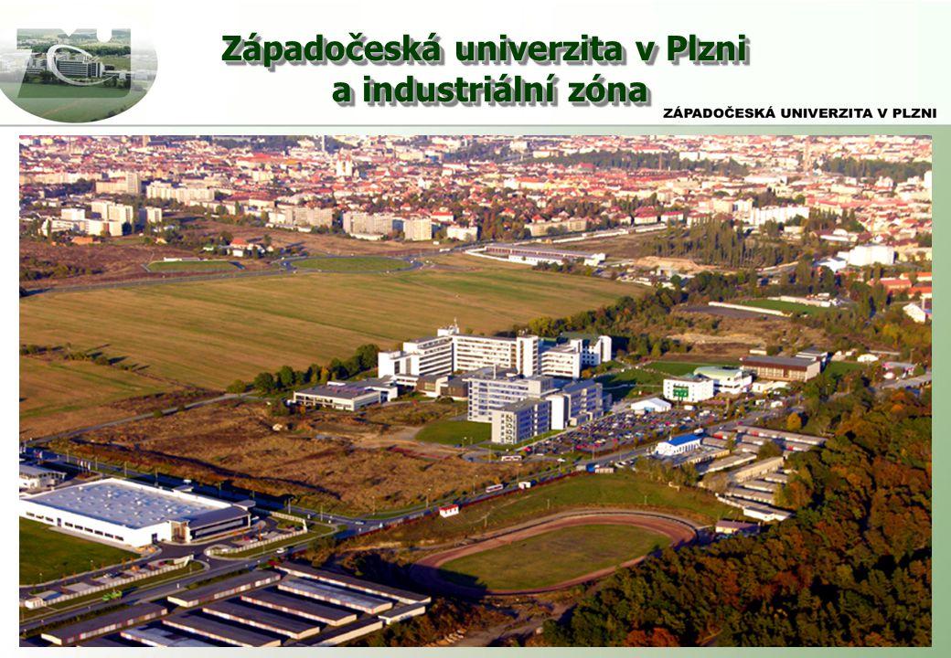 a industriální zóna Západočeská univerzita v Plzni a industriální zóna