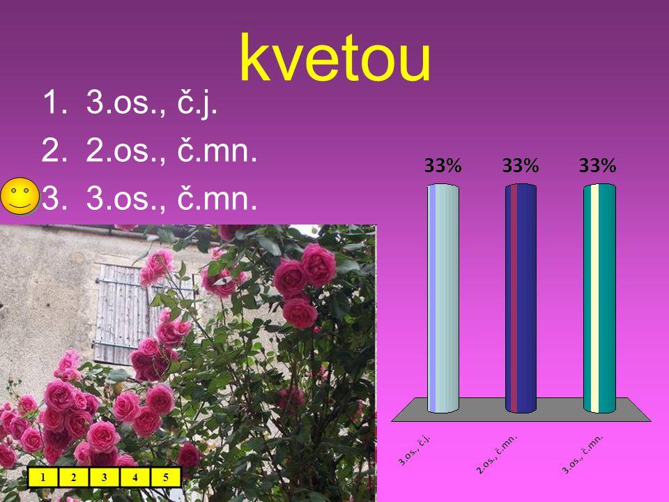 kvetou 12345 1.3.os., č.j. 2.2.os., č.mn. 3.3.os., č.mn.