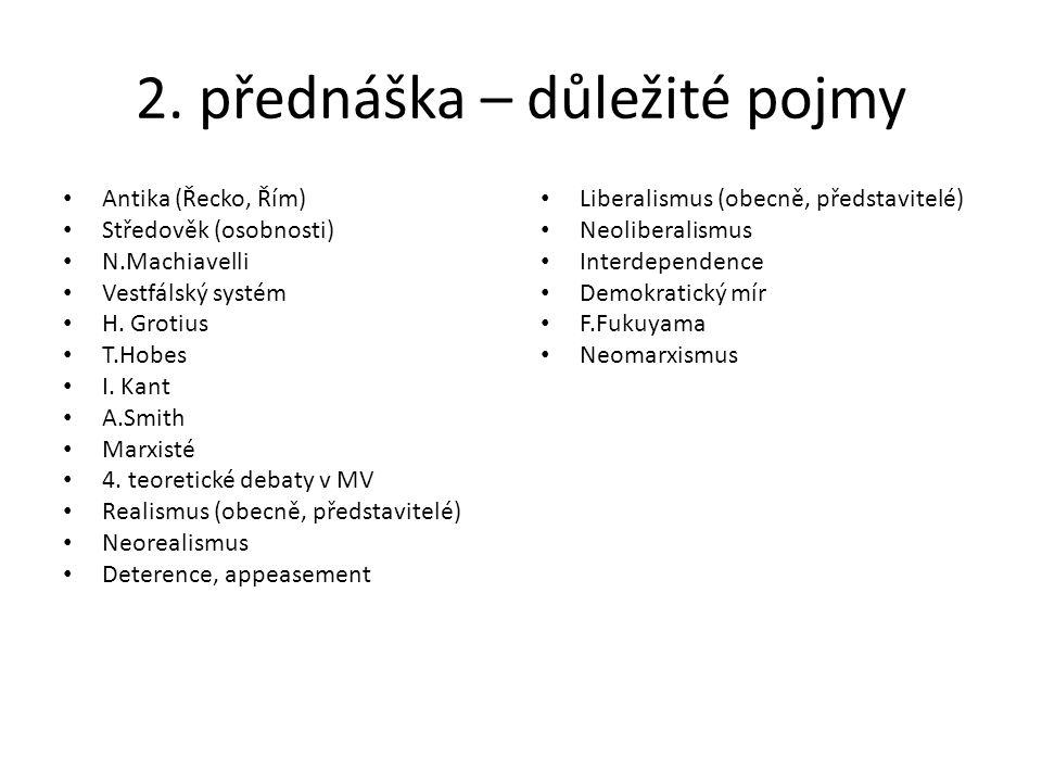 Přednáška 3. Mezinárodní organizace