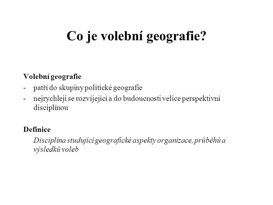Co je volební geografie.