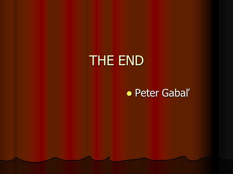 THE END Peter Gabaľ Peter Gabaľ