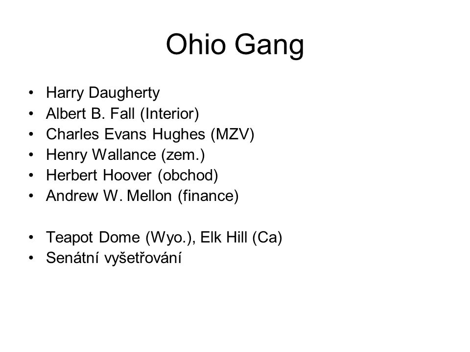 Ohio Gang Harry Daugherty Albert B.