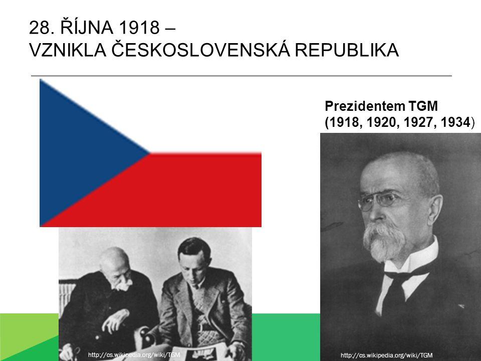 ČESKOSLOVENSKO (?) Slováci se připojují k Čechám a Moravě (Češi 51%, Slováci 16%) Existuje národ Čechoslováků.