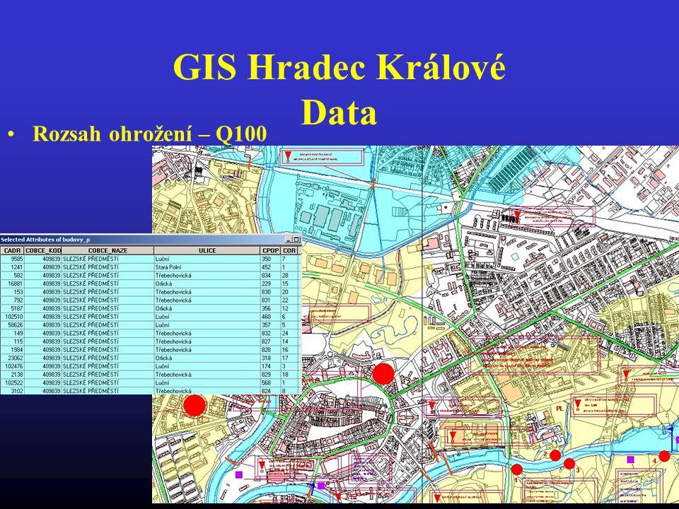 GIS Hradec Králové Data Rozsah ohrožení – Q100