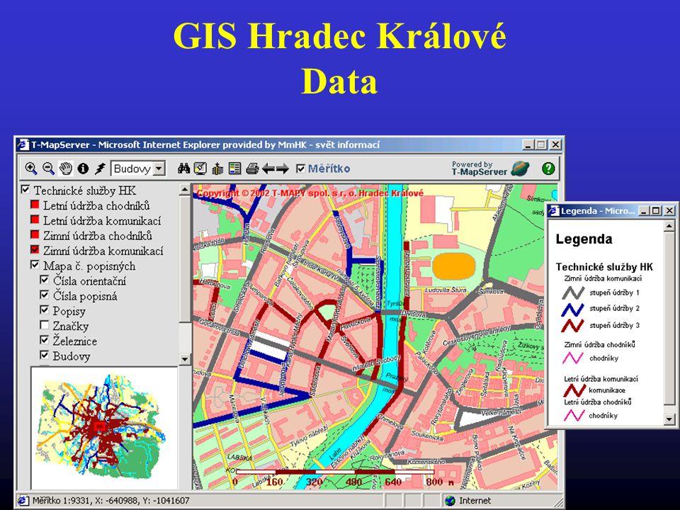 GIS Hradec Králové Data Mapa zimní údržby chodníků a komunikací