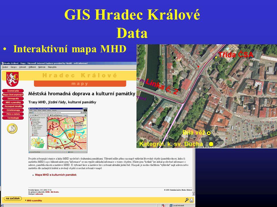GIS Hradec Králové Data Interaktivní mapa MHD