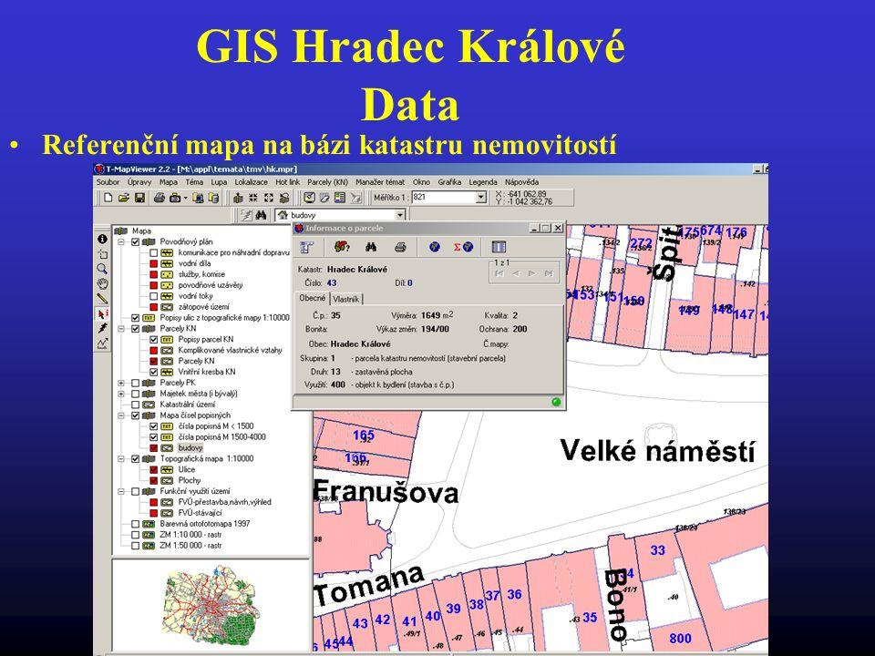 GIS Hradec Králové Data Referenční mapa na bázi katastru nemovitostí