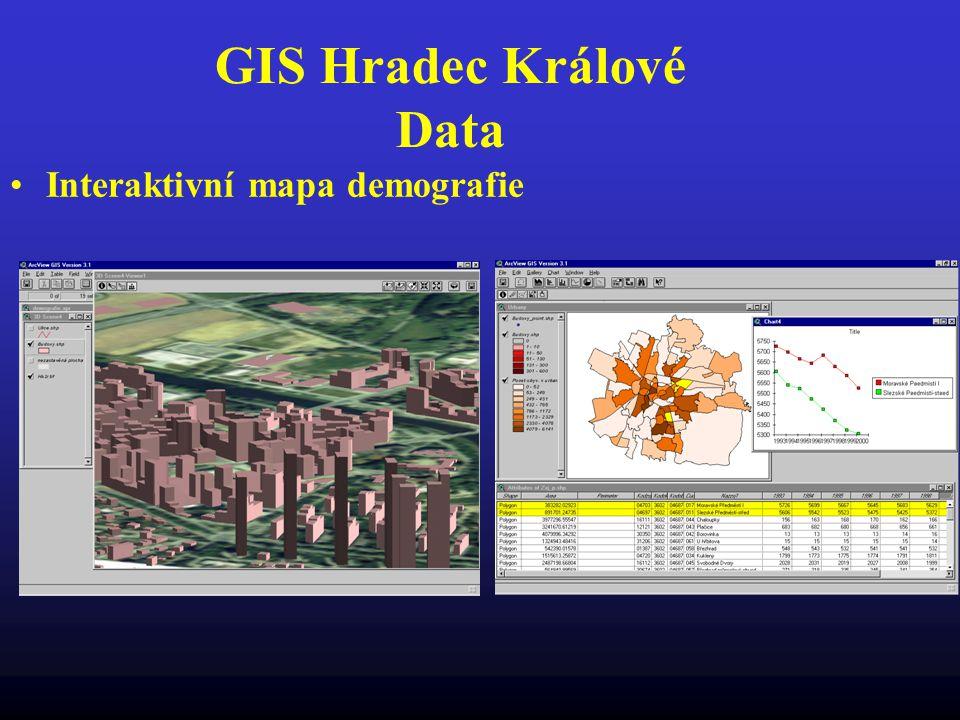 GIS Hradec Králové Data Interaktivní mapa demografie