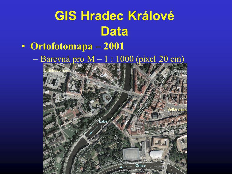 GIS Hradec Králové Data Ortofotomapa – 2001 –Barevná pro M – 1 : 1000 (pixel 20 cm)