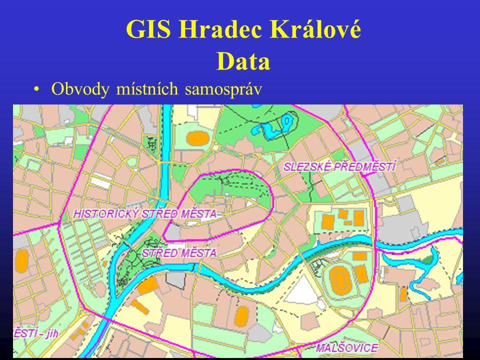 GIS Hradec Králové Data Obvody místních samospráv