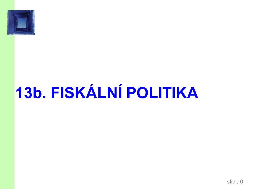 slide 0 13b. FISKÁLNÍ POLITIKA