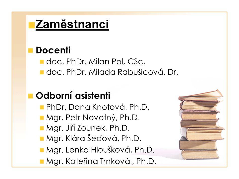 Zaměstnanci Docenti doc. PhDr. Milan Pol, CSc. doc.