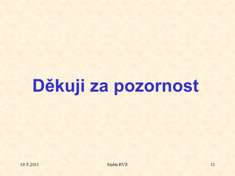 Sněm RVŠ11 Děkuji za pozornost 19.5.2011