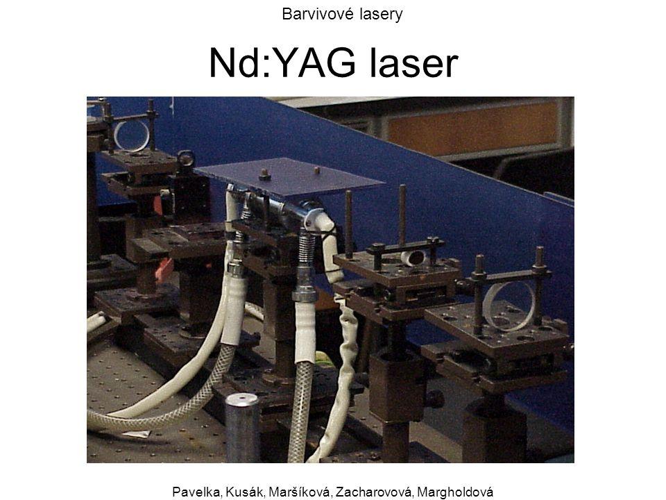Barvivové lasery Pavelka, Kusák, Maršíková, Zacharovová, Margholdová Nd:YAG laser
