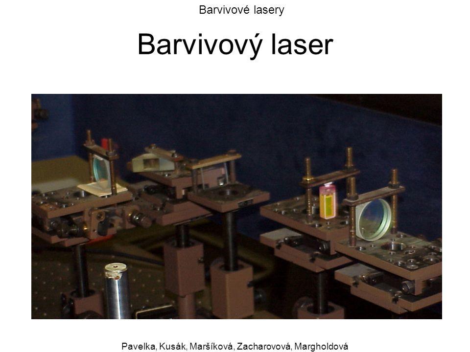 Barvivové lasery Pavelka, Kusák, Maršíková, Zacharovová, Margholdová Barvivový laser
