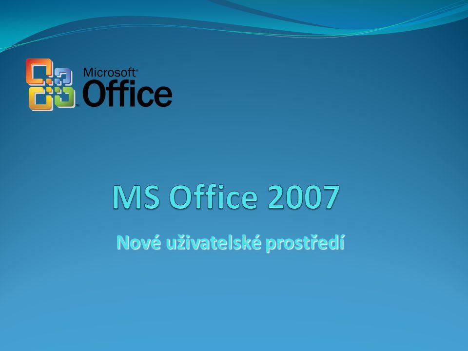 24.4.2015Snímek č. 12 MS Office 2007 – nové uživatelské prostředí Ing. Vladimír Nulíček