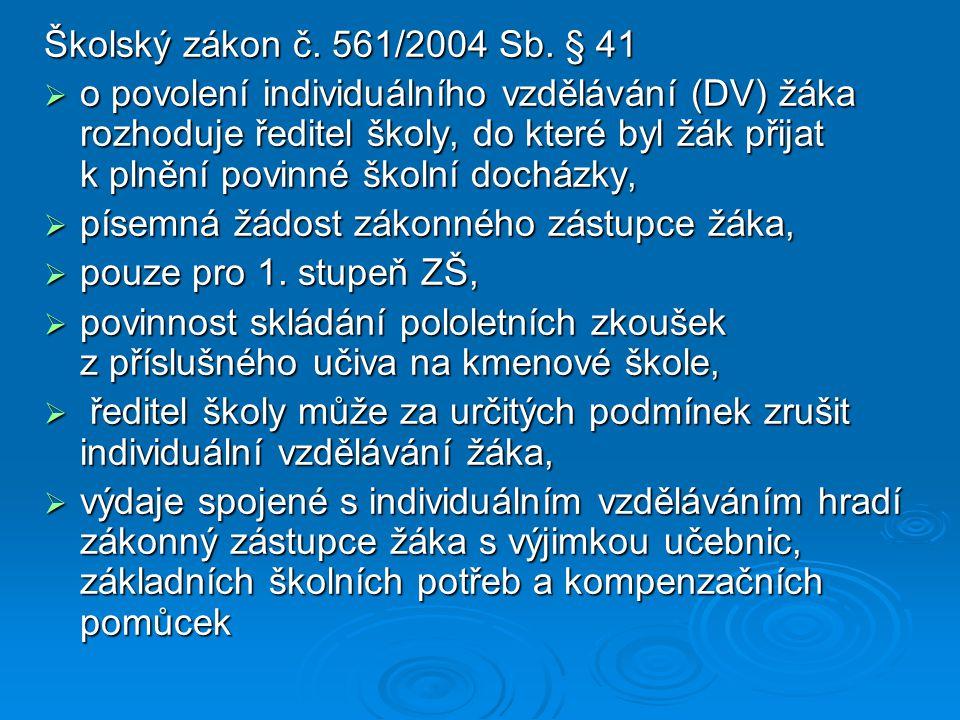 Školský zákon č. 561/2004 Sb.