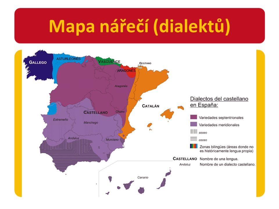 Mapa nářečí (dialektů)