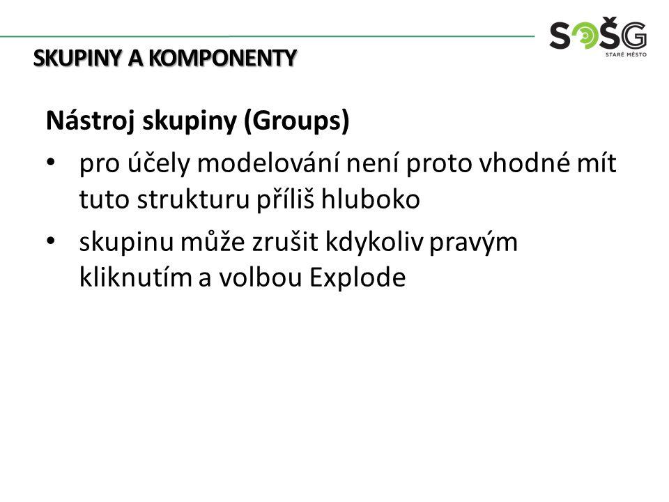 NÁSTROJE Nástroj skupiny a komponenty (archiv autora)