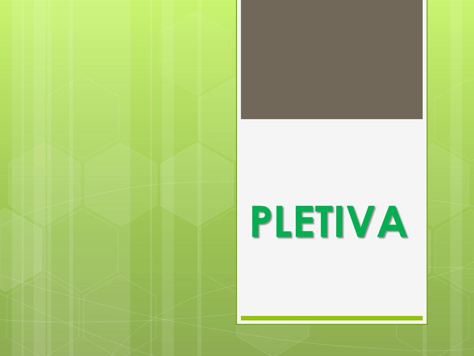  jsou skupiny rostlinných buněk, které mají stejný tvar i funkci  (u živočichů TKÁŇ) PLETIVA
