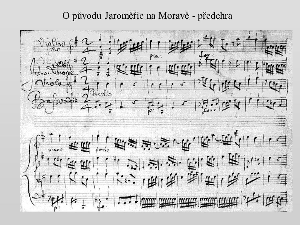 O původu Jaroměřic na Moravě - předehra