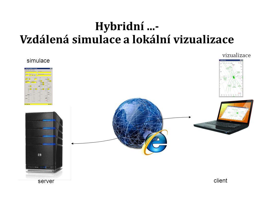 client Hybridní...- Vzdálená simulace a lokální vizualizace vizualizace server simulace