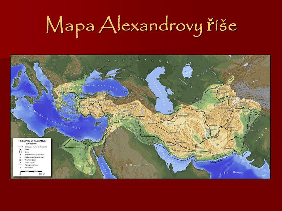 Mapa Alexandrovy ř íše