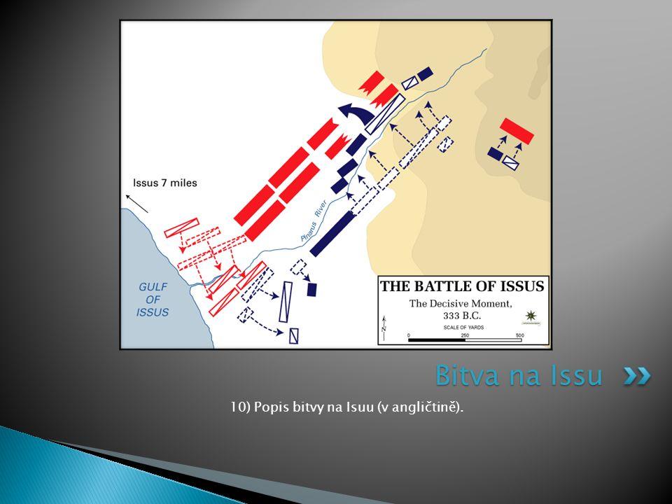 10) Popis bitvy na Isuu (v angličtině). Bitva na Issu