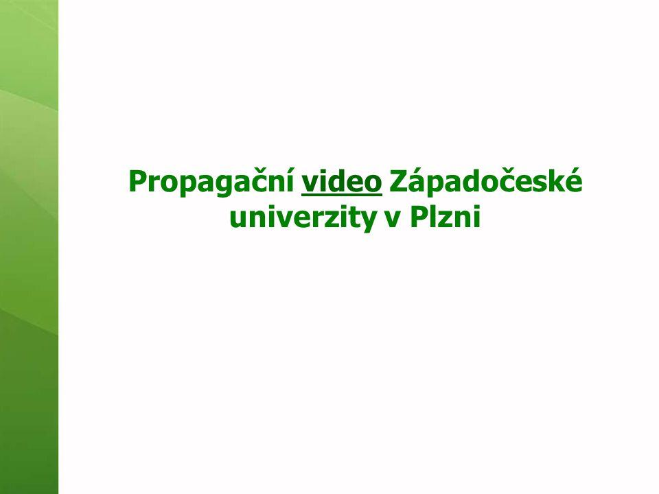 Propagační video Západočeské univerzity v Plznivideo