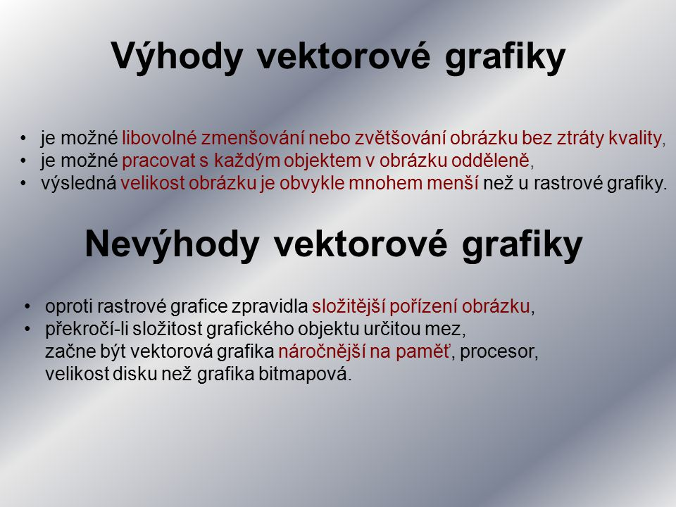 Vektorová grafika se používá zejména pro počítačovou sazbu, tvorbu ilustrací, diagramů a počítačových animací.